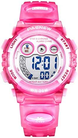 Dayllon Kids outdoor Sports Wrist Watch Boys Girls LED Digital Quartz Wacthes for 5-12 Years Old Children(Pink) #Pdyl-5