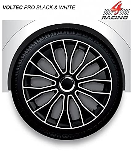 14 inch Trims Voltec Pro Black and White Brand New car Trims set of 4 14 15 16 Hubcaps