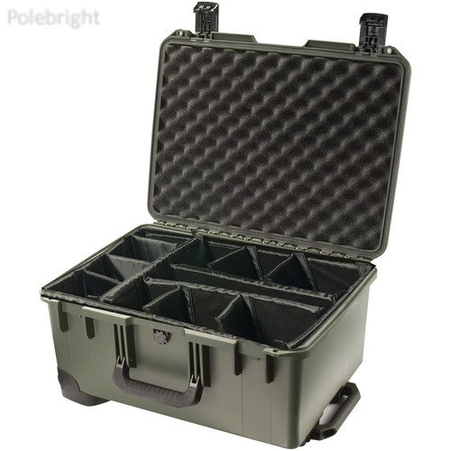 iM2620 Storm Trak Case with Padded Dividers (Olive Drab)- Polebright Update