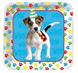 Creative Converting Paw-Ty Time Square Dessert Plates, 8-Count, Health Care Stuffs