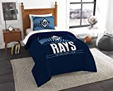 Rays OFFICIAL Major League Baseball, Bedding, Printed Twin Comforter (64x 86) & 1 Sham (24x 30) Set