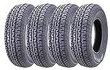 Set of 4 New Premium WINDA Trailer Tires ST 205/75R15 8PR/Load Range D w/Scuff Guard