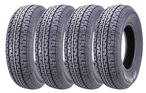 Set of 4 New Premium WINDA Trailer Tires ST 205/75R15 8PR/Load Range D w/Scuff Guard