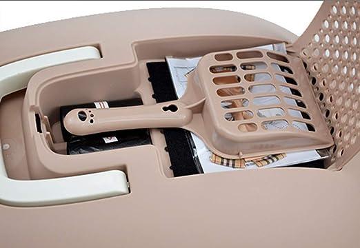 Tocador De Plástico De Limpieza Automático Desodorante Cerrado, Caja De Baño De Gato/Bandeja De Basura De Gato, Caja De Arena,Gray: Amazon.es: Deportes y ...