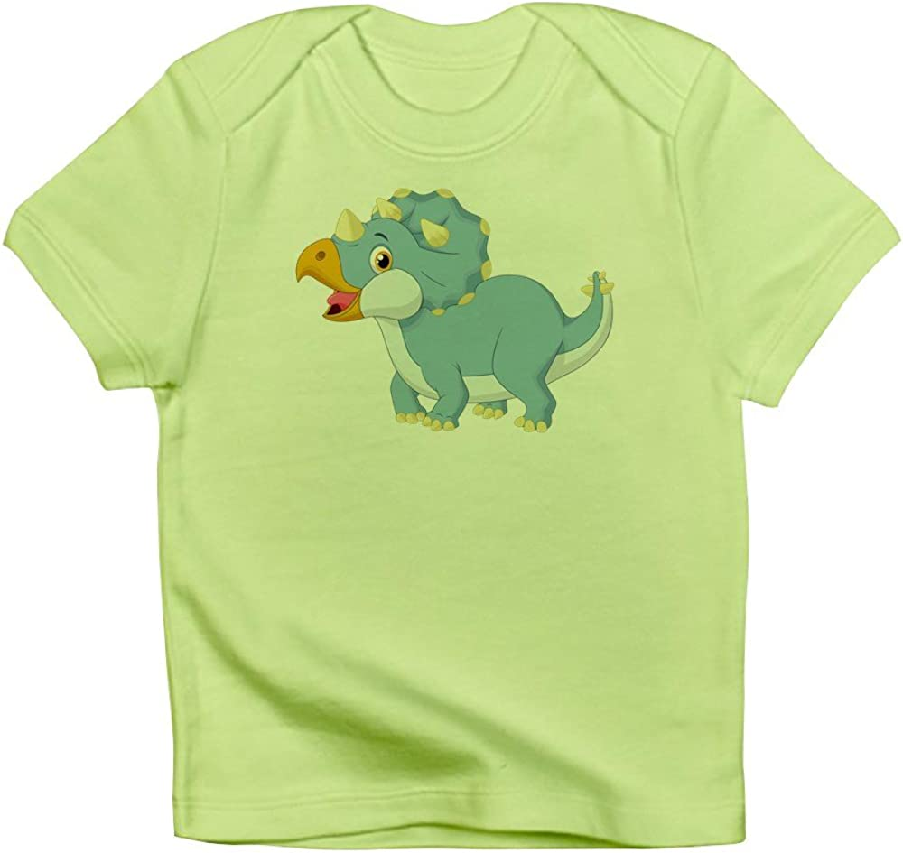 Sky Blue Truly Teague Long Sleeve Infant T-Shirt Cute Blue Triceratops Dinosaur 0 To 3 Months
