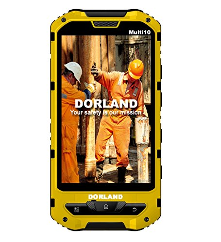 DORLAND Multi 10 Explosion-proof IP68 Rugged mobile phone,Intrinsically Safe For Oil & Gas Industry and Hazardous Areas, Waterproof Dustproof Shockproof 3G Android 4.1.2 Dual SIM GPS Navigation by DORLAND