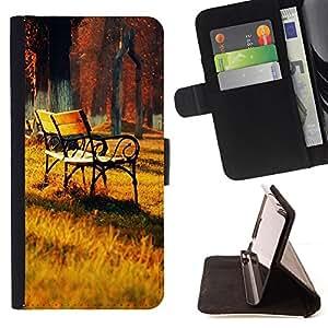 BullDog Case - FOR/Sony Xperia Z1 Compact D5503 / - / Sunset Lounge Chair Beautiful Nature 26 /- Monedero de cuero de la PU Llevar cubierta de la caja con el ID Credit Card Slots Flip funda de cuer
