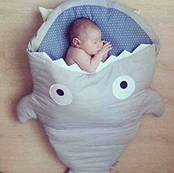 Envelope Newborns Baby Shark Sleeping Bag For Winter Strollers Bed Swaddle  Blanket Wrap Cute Cartoon Bedding