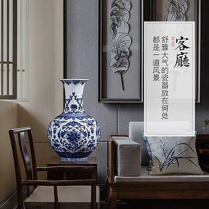 Fashion158 Jingdezhen - Jarrón de cerámica Pintado a Mano de ...