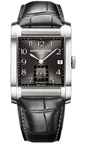 Baume-Mercier-Mens-10027-Hampton-Mens-Black-Leather-Strap-Automatic-Watch