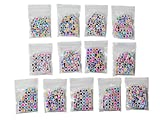FEQM 520 Pre-Sorted Acrylic Cube Alphabet Beads White with Mixed Color Letters - Great for DIY Kandi, Necklaces, Bracelets, Keychains, Kids Education