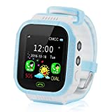 MIOIM Kids Smart Watch Phone GPS Tracker 1.44''Touch Screen w/Phone Sim Card Slot Wrist Watch with Camera Waterproof Gift for 3-12 Year Old Boys Girls Perfect Holiday Birthday Gifts Blue Pink Orange