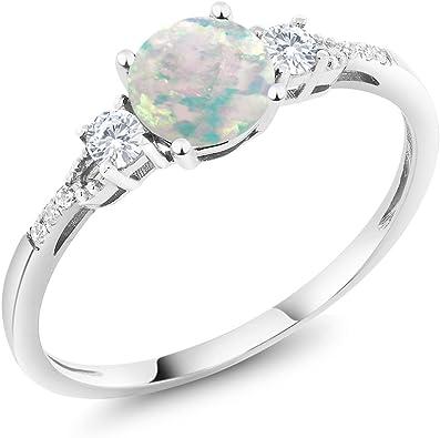 Cherryn Women Princess Pink Heart White Opal engagement rings fashion rings for women