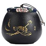 LUNA Japanese Ceramics Tea Canister Traditional Tea Caddy (A22)