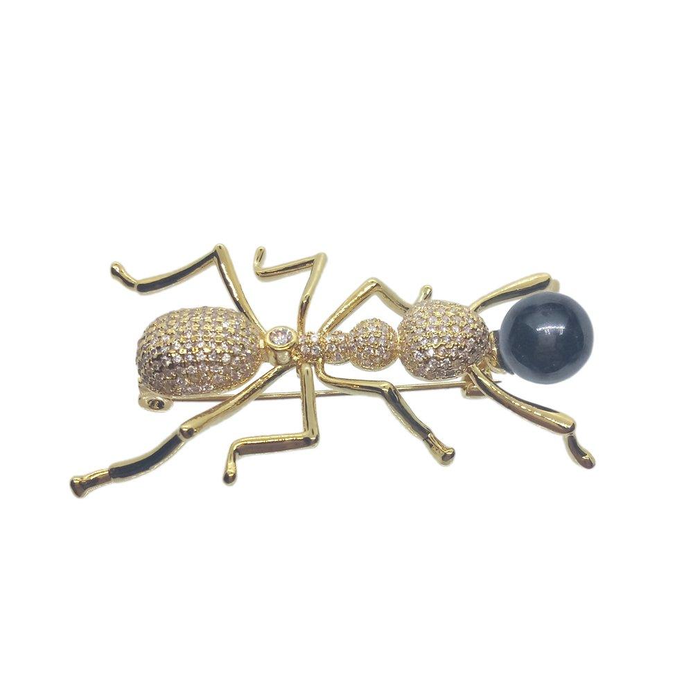 Bling Bling Ant Brooch Fine Fashion Animal Rhinestone Brooch