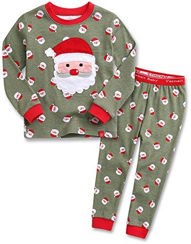 Vaenait Baby 12M-7T Kids Boys Sleepwear Pajama 2pcs Set Cookie Santa L