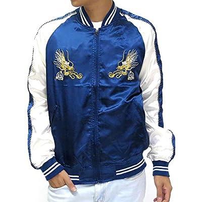 Hot Nylaus Men's Souvenir Bomber Jacket Sukajan Japanese Dragon Embroidered hot sale