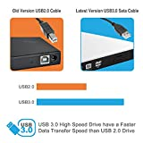 External DVD CD Drive By Tremsurge USB 3.0 Ultra Slim Portable External DVD Drive CD DVD RW / DVD CD ROM Drive / Writer / Rewriter / USB CD Burner Ideal For Desktops, Notebooks and Laptops