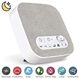 #1: White Noise Machine for Sleeping, Aurola Sleep Sound Machine with Non-Looping Soothing Sounds for Baby Adult Traveler, Portable for Home Office Travel. Built in USB Output Charger & Timer.