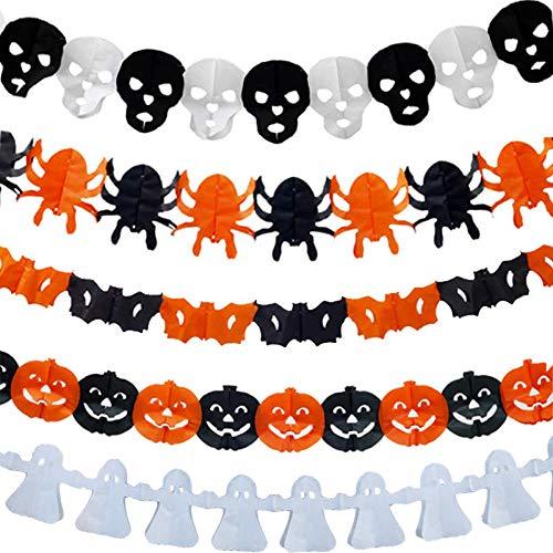 SGI Mrosaa Halloween Pumpkin Paper Brocade Paper Art Decoration Toys - C -