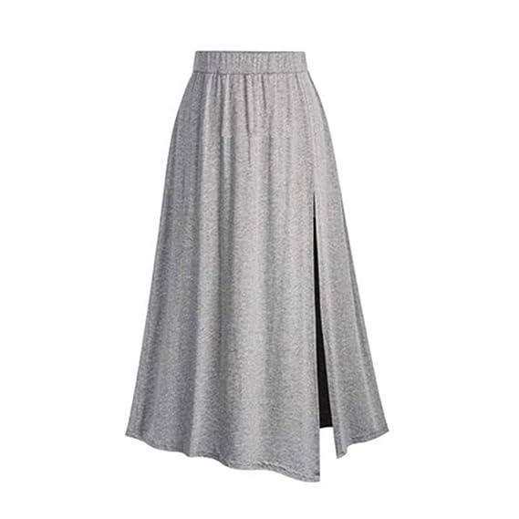 Conquro-falda de Punto Dobladillo Primavera otoño e Invierno Falda ...