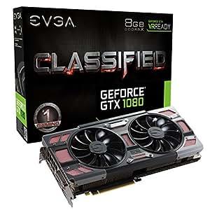 EVGA GeForce GTX 1080 8GB GDDR5X - Tarjeta gráfica (GeForce GTX 1080, 8 GB, GDDR5X, 256 bit, 7680 x 4320 Pixeles, PCI Express x16 3.0)
