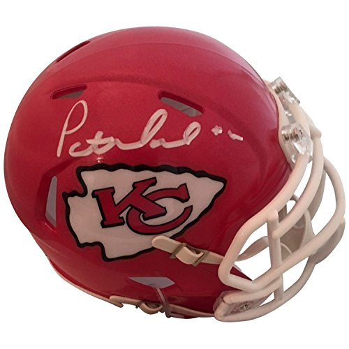 36d27f90a5e Patrick Mahomes Autographed Kansas City Chiefs Signed Football Speed Mini  Helmet JSA COA