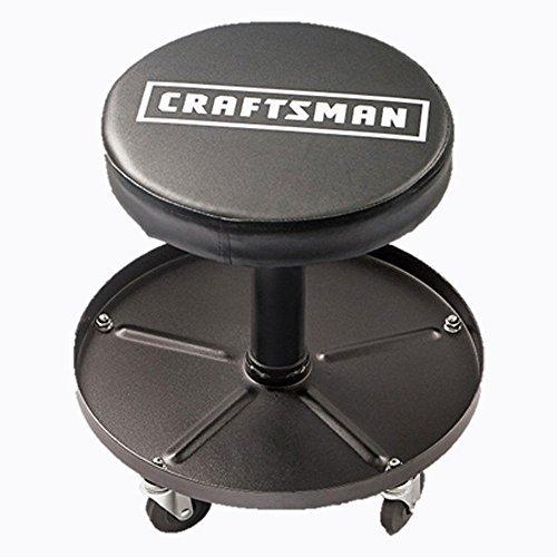 Craftsman Adjustable Pneumatic Mechanics Swivel Seat (Black)