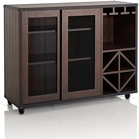 IoHOMES Sallos Multi Storage Buffet Vintage Walnut