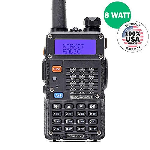 Baofeng Radio UV-5R MK5 8W MP Max Power 2019 Mirkit Edition Improved Model Walkie Talkies Dual Band VHF/UHF Two Way Ham Radio 1800mAh Li-ion Battery Pack - USA Warranty