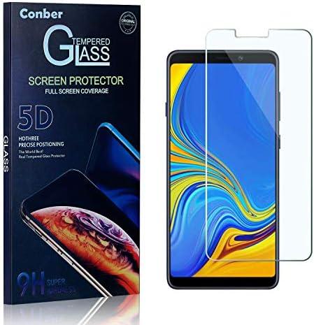 Conber Panzerglasfolie für Samsung Galaxy A9 2018, [2 Stück] 9H gehärtes Glas, Kratzfest, Blasenfrei, Hülle Freundllich Hochwertiger Panzerglas Schutzfolie für Samsung Galaxy A9 2018