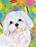Cheap Caroline's Treasures SS4827GF Maltese Easter Eggtravaganza Flag, Small, Multicolor