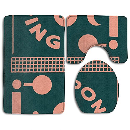 ZOUBA Ping Pong Easy Clean Yoga Mat Fashion-forward Exercise Mat by ZOUBA