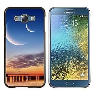 For Samsung Galaxy E7 E700 Case , Sunset Beautiful Nature 33- Diseño Patrón Teléfono Caso Cubierta Case Bumper Duro Protección Case Cover Funda
