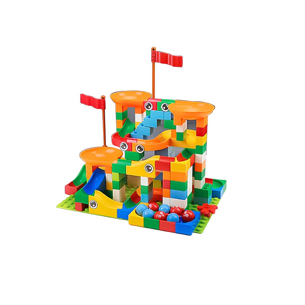 LINGLING-Track Large Particle Children's Slide Building Blocks Toy Track Assembling Puzzle Gift 3-8 Years Old (Size : 74 Pieces)