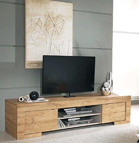milano mobile tv con 2 ante e 1 ripiano in legno, 190 x 45 x 51 cm ... - Mobili Tv Amazon