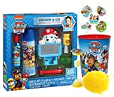 Paw Patrol ''Marshall'' Inspired Groom & Go Bath Time Activity Set, Bath Scrubby, Rinse Cup & ''Time To Get Out'' Bath Timer! Plus Bonus Paw Patrol Stocking Stuffer Holiday Stickers!
