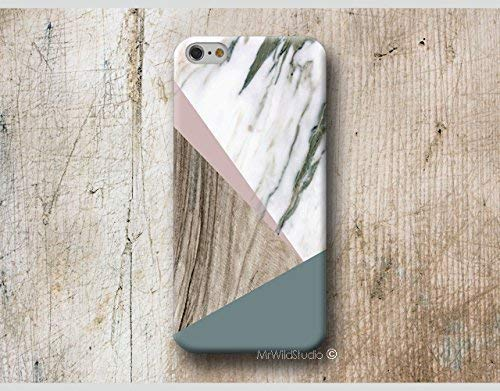 Funda Madera Mármol Geométrica para iPhone 4 5 5s SE 6 6s 7 Plus Samsung Galaxy s8 s7 s6 s5 A5 A3 J5 LG Huawei Moto Oneplus Sony HTC ....