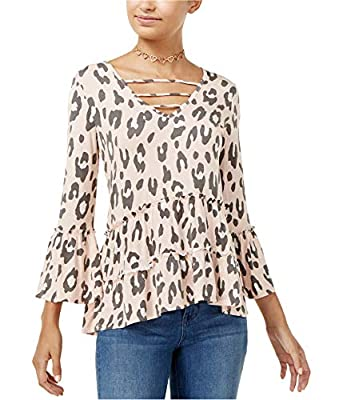 Miss Chievous Womens Caged Peasant Blouse