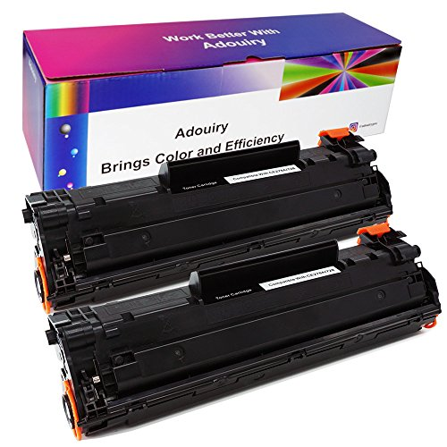 Adouiry Compatible Toner Cartridge Replacement for HP 78A CE278A Laser Toner Cartridge, 2 pack Black Toner Cartridge for HP LaserJet M1536 MFP M1536DNF P1560 P1566 P1606 P1606DN Printer by Adouiry