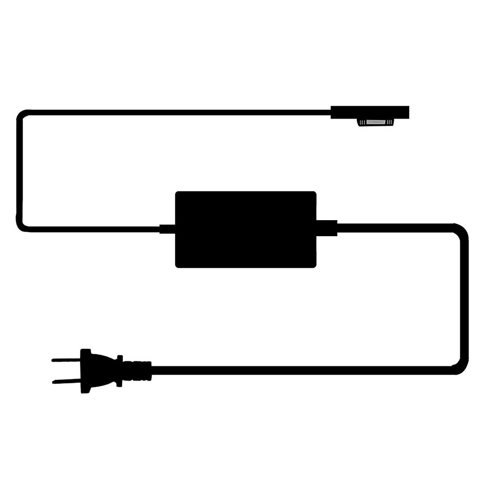 [UL Listed] Surface Pro 3 Pro 4 Charger, BestPlayer Surface Power Supply Adapter 36W 12V 2.58A Charger with 8.2 Ft Power Cord/2-Port USB for Microsoft Surface Pro 3 Pro 4 i5 i7 Tablet by BestPlayer (Image #4)