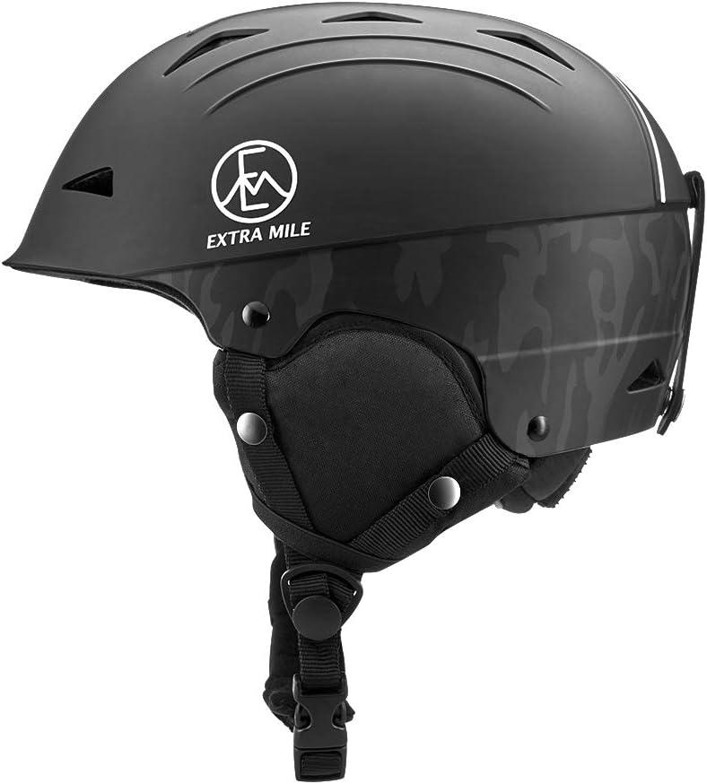 Extra Mile Ski & Snowboard Helmet w/Active Ventilation - EN 1077 Certified Safety, Matte Finish for Men, Women & Youth
