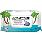 Attitude Eco lingettes 100% biodégradables 72par paquet