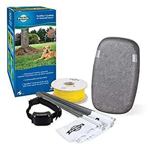 PetSafe Yardmax Cordless In-Ground Dog & Cat Fence, Waterproof Rechargeable Reciever Collar with Tone & Static… Click on image for further info.