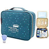 M Square Travel Bag Portable Waterproof Toiletry Bag Travel Kit Cosmetic Bag (Blue Point Wave)