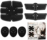 GPCT Fitness Muscle Abdominal Trainer Fat Burner EMS Belt. Unisex Portable Wireless Body Exercise Slimming Sculptor Toner Training Gear Abs/Legs/Waist- Home/Office/Workout/Sport/Outdoor/Men & Women