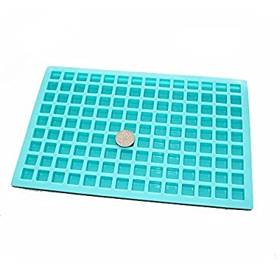 X-Haibei Small Square Ice Cube Jello Candy Chocolate Making Silicone Mold Soap Supplies 0.1oz/Cell