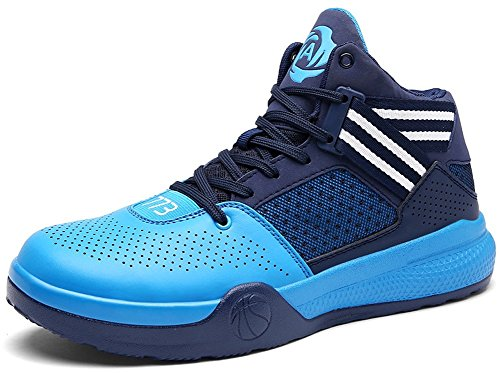 100% authentic sale tumblr JiYe Men's Lightweight Basketball Shoes Women's Sports Running Sneakers Blue cheap new arrival J9BO5