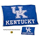 College Flags and Banners Co. Kentucky Wildcats New UK Logo Double Sided Nylon Embroidered Flag Review
