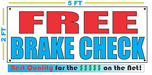 - FREE BRAKE CHECK All Weather Full Color Banner Sign